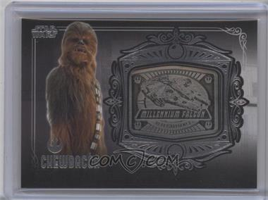2013 Topps Star Wars Galactic Files Series 2 - Medallion Relics #MD-4 - Chewbacca (Millennium Falcon)