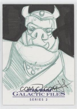 2013 Topps Star Wars Galactic Files Series 2 - Sketch Cards #JGGG - Jarrod Gecek (Gamorrean Guard) /1