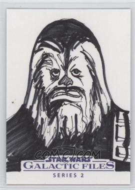 2013 Topps Star Wars Galactic Files Series 2 - Sketch Cards #UACH - Unknown Artist (Chewbacca) /1