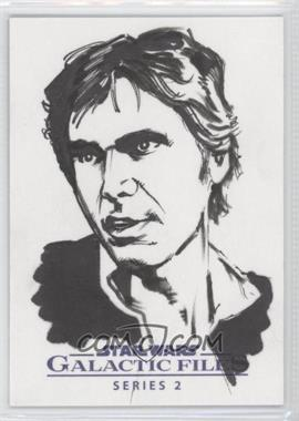 2013 Topps Star Wars Galactic Files Series 2 - Sketch Cards #UAHS - Unknown Artist (Han Solo) /1