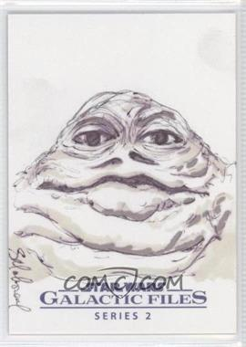 2013 Topps Star Wars Galactic Files Series 2 - Sketch Cards #UAJH - Unknown Artist (Jabba The Hutt) /1