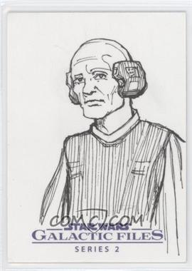 2013 Topps Star Wars Galactic Files Series 2 - Sketch Cards #UALO - Unknown Artist (Lobot) /1