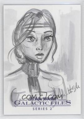 2013 Topps Star Wars Galactic Files Series 2 - Sketch Cards #UNAR - Unknown Artist /1