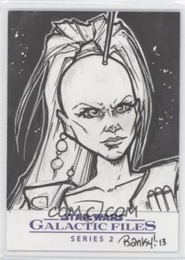 2013 Topps Star Wars Galactic Files Series 2 - Sketch Cards #VFAS - Vanessa Farano (Aurra Sing) /1