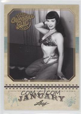 2014 Leaf Bettie Page - Calendar Girl #CG1 - Bettie Page (January)