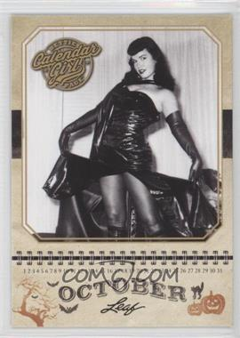 2014 Leaf Bettie Page - Calendar Girl #CG10 - Bettie Page (October)