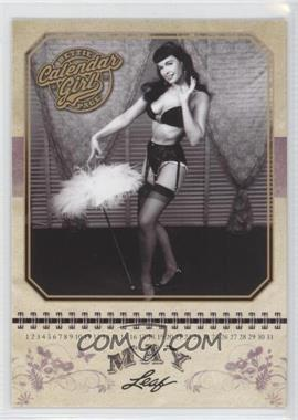 2014 Leaf Bettie Page - Calendar Girl #CG5 - Bettie Page (May)