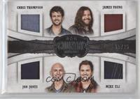 Chris Thompson, James Young, Mike Eli, Jon Jones #/25