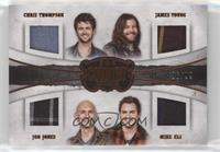 Chris Thompson, James Young, Mike Eli, Jon Jones #/99