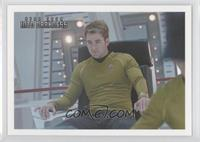 Sulu informs Kirk that a vessel...