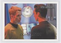 Kirk enters the med-bay