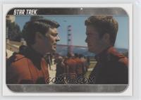 At Starfleet Academy, Cadet Kirk...