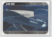 Captain Pike orders helmsman Sulu...