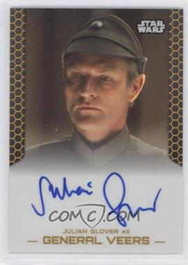 2014 Topps Star Wars Chrome Perspectives - Autographs - Gold Refractor #JGGV - Julian Glover as General Veers