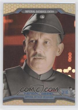 2014 Topps Star Wars Chrome Perspectives - [Base] - Gold Refractor #31E - Kendal Ozzel /50