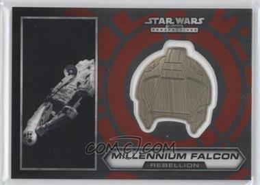 2014 Topps Star Wars Chrome Perspectives - Helmet Medallion - Silver #12 - Millennium Falcon (short print)