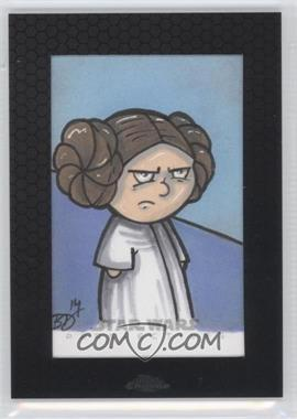 2014 Topps Star Wars Chrome Perspectives - Sketch Cards #BDPL - Brian DeGuire (Princess Leia)