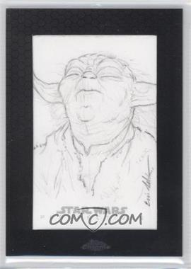 2014 Topps Star Wars Chrome Perspectives - Sketch Cards #ELYO - Eric Lehtonen (Yoda)