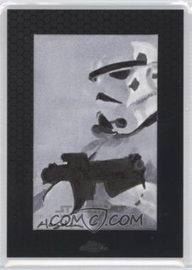 2014 Topps Star Wars Chrome Perspectives - Sketch Cards #HDST - Hayden Davis (Stormtrooper)