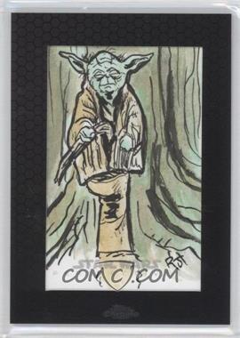 2014 Topps Star Wars Chrome Perspectives - Sketch Cards #JYO - Jimenez (Yoda)