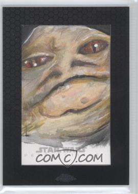 2014 Topps Star Wars Chrome Perspectives - Sketch Cards #TPJH - Tim Proctor (Jabba The Hutt)
