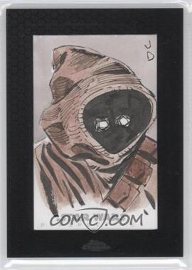 2014 Topps Star Wars Chrome Perspectives - Sketch Cards #UAJA - Unknown Artist (Jawa)