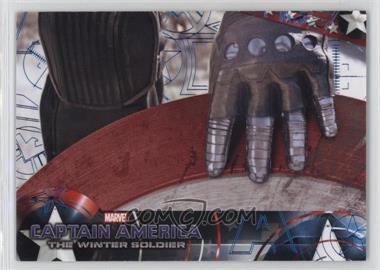 2014 Upper Deck Captain America: The Winter Soldier - [Base] - Blue Patriotic Foil #89 - Captain America: The Winter Soldier /25