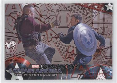 2014 Upper Deck Captain America: The Winter Soldier - [Base] - Red Patriotic Foil #17 - Captain America: The Winter Soldier /99