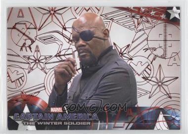 2014 Upper Deck Captain America: The Winter Soldier - [Base] - Red Patriotic Foil #25 - Captain America: The Winter Soldier /99