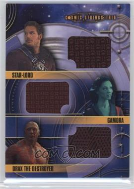 2014 Upper Deck Guardians of the Galaxy - Cosmic Strings Trio Memorabilia #CST-1 - Star-Lord, Gamora, Drax the Destroyer
