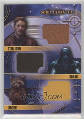 2014 Upper Deck Guardians of the Galaxy - Cosmic Strings Trio Memorabilia #CST-11 - Star-Lord, Ronan, Rocket