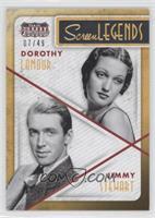 Dorothy Lamour, Jimmy Stewart /49