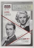 Jimmy Stewart, Lana Turner #/25