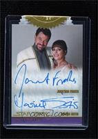 Jonathan Frakes as Commander Riker, Marina Sirtis as Deanna Troi [Uncirculated]