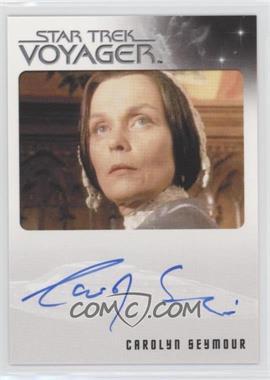 2015 Rittenhouse Star Trek Voyager Heroes and Villians - Autographs #CASE - Carolyn Seymour as Mrs. Templeton