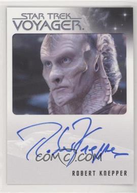 2015 Rittenhouse Star Trek Voyager Heroes and Villians - Autographs #ROKN - Robert Knepper as Gaul