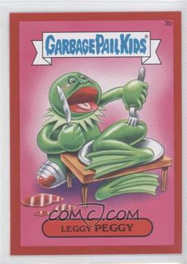 2015 Topps Garbage Pail Kids Series 1 - [Base] - Collector Pack Red Metallic #3b - Leggy Peggy