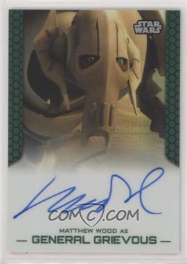2015 Topps Star Wars Chrome Perspectives: Jedi vs. Sith - Autographs - Prism Refractor #MWGG - Matthew Wood as General Grievous /50