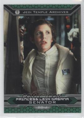 2015 Topps Star Wars Chrome Perspectives: Jedi vs. Sith - [Base] - Refractor #20-J - Princess Leia Organa