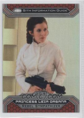 2015 Topps Star Wars Chrome Perspectives: Jedi vs. Sith - [Base] - Refractor #20-S - Princess Leia Organa