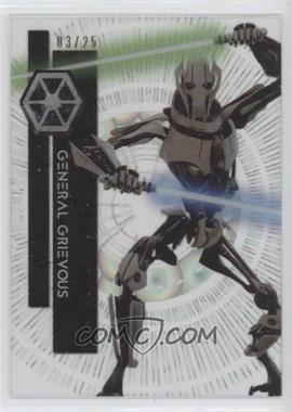 2015 Topps Star Wars High Tek - [Base] - Clouds Diffractor #84 - Form 2 - General Grievous /25 [Noted]