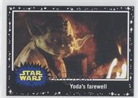 Return of the Jedi - Yoda's farewell