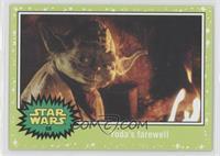 Return of the Jedi - Yoda's farewell