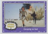The Force Awakens - Escaping on foot