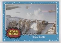 The Empire Strikes Back - Snow battle