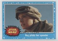 The Force Awakens - Rey pilots her speeder