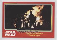 Anakin Skywalker's funeral pyre