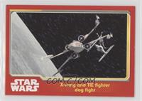 X-wing and TIE fighter dog fight