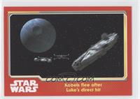 Rebels flee after Luke's direct hit