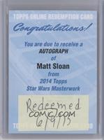 Matt Sloan [REDEMPTIONBeingRedeemed]